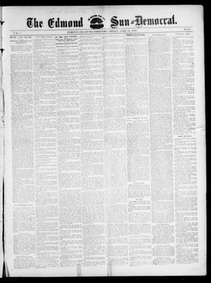 Primary view of object titled 'The Edmond Sun--Democrat. (Edmond, Okla. Terr.), Vol. 7, No. 42, Ed. 1 Friday, April 24, 1896'.