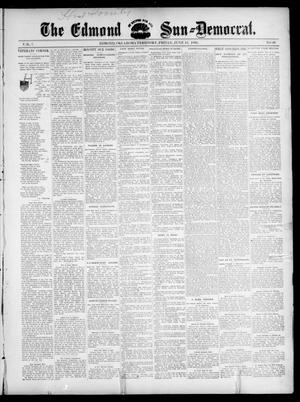 Primary view of object titled 'The Edmond Sun--Democrat. (Edmond, Okla. Terr.), Vol. 7, No. 49, Ed. 1 Friday, June 12, 1896'.