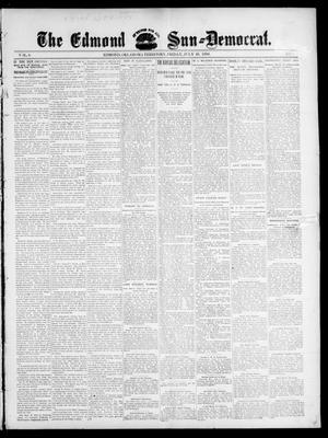 Primary view of object titled 'The Edmond Sun--Democrat. (Edmond, Okla. Terr.), Vol. 8, No. 1, Ed. 1 Friday, July 10, 1896'.