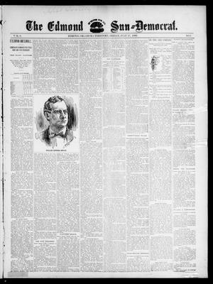 Primary view of object titled 'The Edmond Sun--Democrat. (Edmond, Okla. Terr.), Vol. 8, No. 2, Ed. 1 Friday, July 17, 1896'.