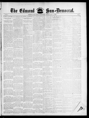 Primary view of object titled 'The Edmond Sun--Democrat. (Edmond, Okla. Terr.), Vol. 8, No. 5, Ed. 1 Friday, August 7, 1896'.