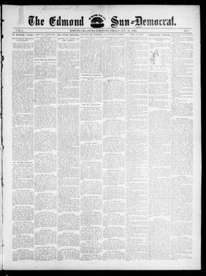 Primary view of object titled 'The Edmond Sun--Democrat. (Edmond, Okla. Terr.), Vol. 8, No. 7, Ed. 1 Friday, August 21, 1896'.