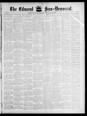 Primary view of object titled 'The Edmond Sun--Democrat. (Edmond, Okla. Terr.), Vol. 8, No. 8, Ed. 1 Friday, August 28, 1896'.