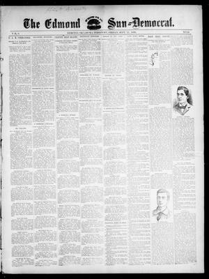 Primary view of object titled 'The Edmond Sun--Democrat. (Edmond, Okla. Terr.), Vol. 8, No. 10, Ed. 1 Friday, September 11, 1896'.