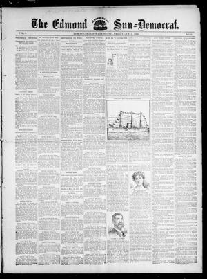 Primary view of object titled 'The Edmond Sun--Democrat. (Edmond, Okla. Terr.), Vol. 8, No. 13, Ed. 1 Friday, October 2, 1896'.