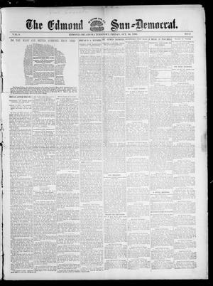 Primary view of object titled 'The Edmond Sun--Democrat. (Edmond, Okla. Terr.), Vol. 8, No. 17, Ed. 1 Friday, October 30, 1896'.