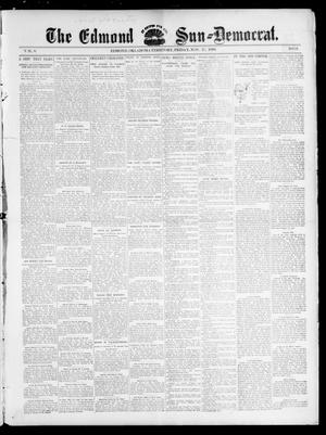 Primary view of object titled 'The Edmond Sun--Democrat. (Edmond, Okla. Terr.), Vol. 8, No. 21, Ed. 1 Friday, November 27, 1896'.