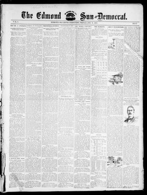 Primary view of object titled 'The Edmond Sun--Democrat. (Edmond, Okla. Terr.), Vol. 8, No. 27, Ed. 1 Friday, January 8, 1897'.