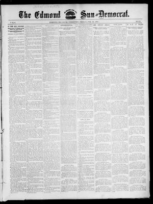 Primary view of object titled 'The Edmond Sun--Democrat. (Edmond, Okla. Terr.), Vol. 8, No. 33, Ed. 1 Friday, February 19, 1897'.