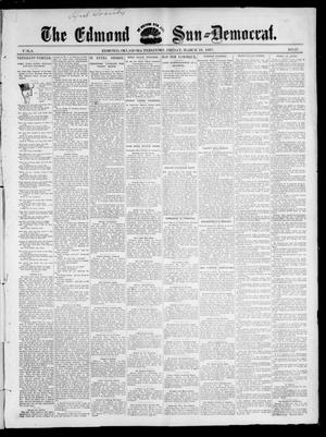 Primary view of object titled 'The Edmond Sun--Democrat. (Edmond, Okla. Terr.), Vol. 8, No. 37, Ed. 1 Friday, March 19, 1897'.
