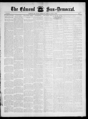 Primary view of object titled 'The Edmond Sun--Democrat. (Edmond, Okla. Terr.), Vol. 9, No. 1, Ed. 1 Friday, July 9, 1897'.