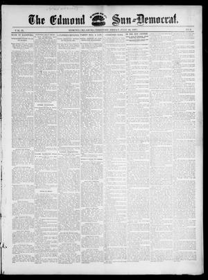 Primary view of object titled 'The Edmond Sun--Democrat. (Edmond, Okla. Terr.), Vol. 9, No. 4, Ed. 1 Friday, July 30, 1897'.