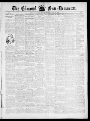 Primary view of object titled 'The Edmond Sun--Democrat. (Edmond, Okla. Terr.), Vol. 9, No. 6, Ed. 1 Friday, August 13, 1897'.