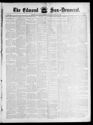 Primary view of object titled 'The Edmond Sun--Democrat. (Edmond, Okla. Terr.), Vol. 9, No. 10, Ed. 1 Friday, September 10, 1897'.