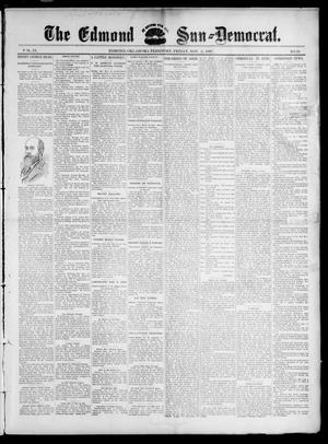 Primary view of object titled 'The Edmond Sun--Democrat. (Edmond, Okla. Terr.), Vol. 9, No. 18, Ed. 1 Friday, November 5, 1897'.