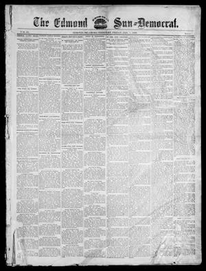 Primary view of object titled 'The Edmond Sun--Democrat. (Edmond, Okla. Terr.), Vol. 9, No. 27, Ed. 1 Friday, January 7, 1898'.