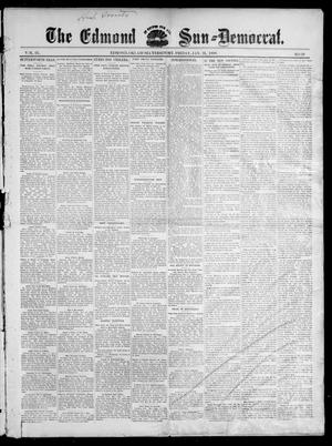 Primary view of object titled 'The Edmond Sun--Democrat. (Edmond, Okla. Terr.), Vol. 9, No. 29, Ed. 1 Friday, January 21, 1898'.