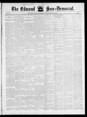 Primary view of object titled 'The Edmond Sun--Democrat. (Edmond, Okla. Terr.), Vol. 9, No. 35, Ed. 1 Friday, March 4, 1898'.