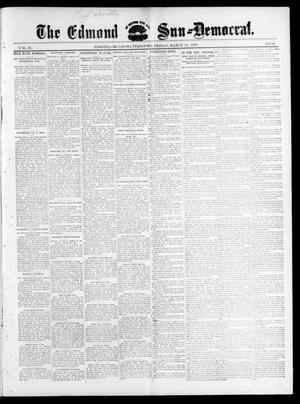 Primary view of object titled 'The Edmond Sun--Democrat. (Edmond, Okla. Terr.), Vol. 9, No. 38, Ed. 1 Friday, March 25, 1898'.