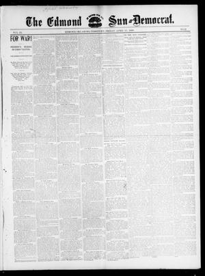 Primary view of object titled 'The Edmond Sun--Democrat. (Edmond, Okla. Terr.), Vol. 9, No. 41, Ed. 1 Friday, April 15, 1898'.