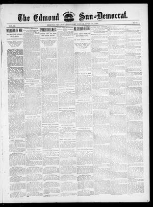 Primary view of object titled 'The Edmond Sun--Democrat. (Edmond, Okla. Terr.), Vol. 9, No. 43, Ed. 1 Friday, April 29, 1898'.