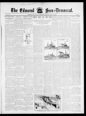 Primary view of object titled 'The Edmond Sun--Democrat. (Edmond, Okla. Terr.), Vol. 9, No. 50, Ed. 1 Friday, June 17, 1898'.