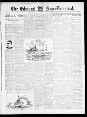 Primary view of object titled 'The Edmond Sun--Democrat. (Edmond, Okla. Terr.), Vol. 10, No. 4, Ed. 1 Friday, July 29, 1898'.