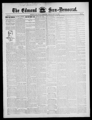 Primary view of object titled 'The Edmond Sun--Democrat. (Edmond, Okla. Terr.), Vol. 10, No. 20, Ed. 1 Friday, November 18, 1898'.