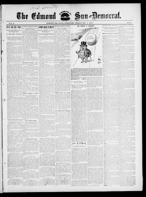 Primary view of object titled 'The Edmond Sun--Democrat. (Edmond, Okla. Terr.), Vol. 10, No. 22, Ed. 1 Friday, December 2, 1898'.