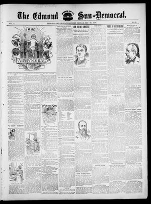 Primary view of object titled 'The Edmond Sun--Democrat. (Edmond, Okla. Terr.), Vol. 10, No. 26, Ed. 1 Friday, December 30, 1898'.