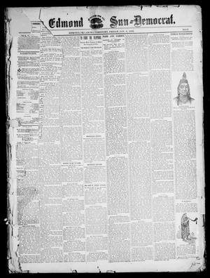 Primary view of object titled 'The Edmond Sun--Democrat. (Edmond, Okla. Terr.), Vol. 10, No. 27, Ed. 1 Friday, January 6, 1899'.