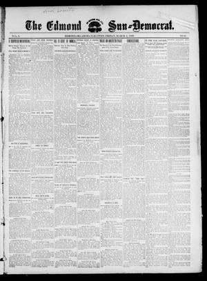 Primary view of object titled 'The Edmond Sun--Democrat. (Edmond, Okla. Terr.), Vol. 10, No. 35, Ed. 1 Friday, March 3, 1899'.