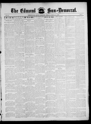 Primary view of object titled 'The Edmond Sun--Democrat. (Edmond, Okla. Terr.), Vol. 10, No. 37, Ed. 1 Friday, March 17, 1899'.