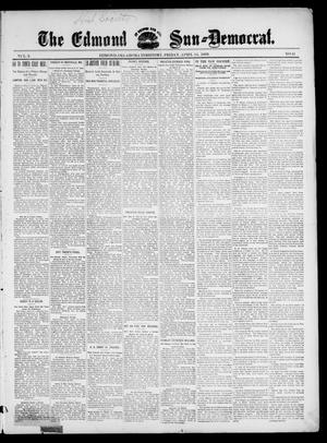 Primary view of object titled 'The Edmond Sun--Democrat. (Edmond, Okla. Terr.), Vol. 10, No. 41, Ed. 1 Friday, April 14, 1899'.