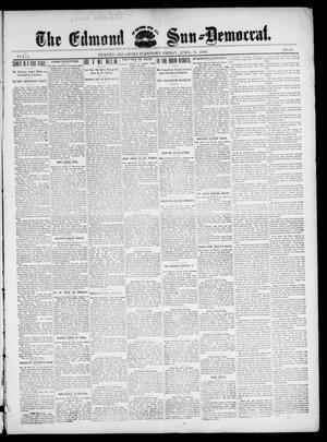 Primary view of object titled 'The Edmond Sun--Democrat. (Edmond, Okla. Terr.), Vol. 10, No. 42, Ed. 1 Friday, April 21, 1899'.