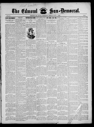 Primary view of object titled 'The Edmond Sun--Democrat. (Edmond, Okla. Terr.), Vol. 10, No. 1, Ed. 1 Friday, July 7, 1899'.