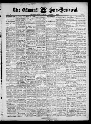 Primary view of object titled 'The Edmond Sun--Democrat. (Edmond, Okla. Terr.), Vol. 10, No. 2, Ed. 1 Friday, July 14, 1899'.