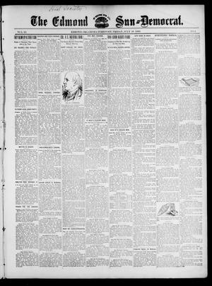 Primary view of object titled 'The Edmond Sun--Democrat. (Edmond, Okla. Terr.), Vol. 11, No. 4, Ed. 1 Friday, July 28, 1899'.