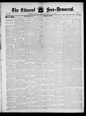 Primary view of object titled 'The Edmond Sun--Democrat. (Edmond, Okla. Terr.), Vol. 11, No. 7, Ed. 1 Friday, August 18, 1899'.