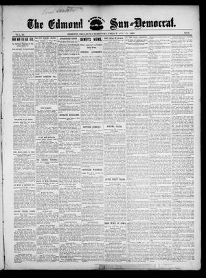 Primary view of object titled 'The Edmond Sun--Democrat. (Edmond, Okla. Terr.), Vol. 11, No. 8, Ed. 1 Friday, August 25, 1899'.