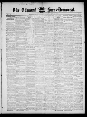 Primary view of object titled 'The Edmond Sun--Democrat. (Edmond, Okla. Terr.), Vol. 11, No. 11, Ed. 1 Friday, September 15, 1899'.