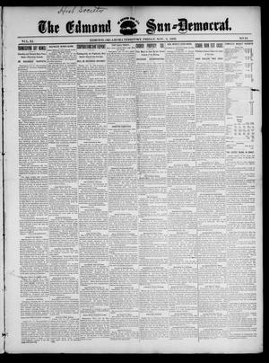 Primary view of object titled 'The Edmond Sun--Democrat. (Edmond, Okla. Terr.), Vol. 11, No. 18, Ed. 1 Friday, November 3, 1899'.