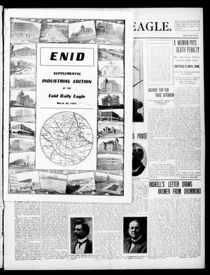 Primary view of object titled 'Enid Daily Eagle. (Enid, Okla.), Vol. 8, No. 157, Ed. 2 Monday, March 29, 1909'.