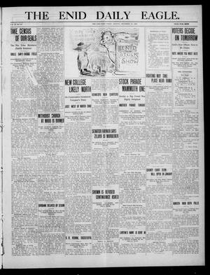Primary view of object titled 'The Enid Daily Eagle. (Enid, Okla.), Vol. 9, No. 64, Ed. 1 Monday, December 13, 1909'.