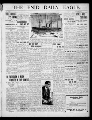 Primary view of object titled 'The Enid Daily Eagle. (Enid, Okla.), Vol. 9, No. 82, Ed. 1 Monday, January 3, 1910'.