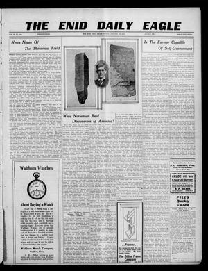 Primary view of object titled 'The Enid Daily Eagle. (Enid, Okla.), Vol. 9, No. 99, Ed. 2 Sunday, January 23, 1910'.