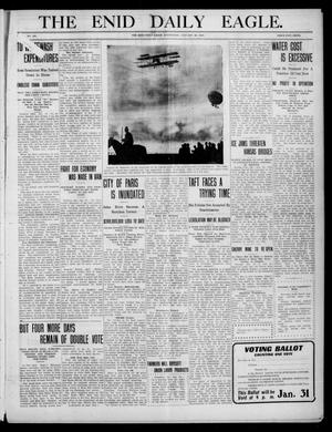 Primary view of object titled 'The Enid Daily Eagle. (Enid, Okla.), Vol. 9, No. 102, Ed. 1 Wednesday, January 26, 1910'.