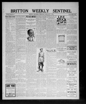 Primary view of object titled 'Britton Weekly Sentinel (Britton, Okla.), Vol. 5, No. 2, Ed. 1 Thursday, February 1, 1912'.