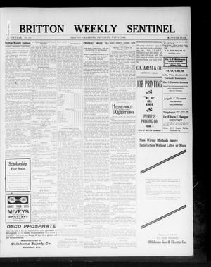 Primary view of object titled 'Britton Weekly Sentinel (Britton, Okla.), Vol. 5, No. 16, Ed. 1 Thursday, May 9, 1912'.