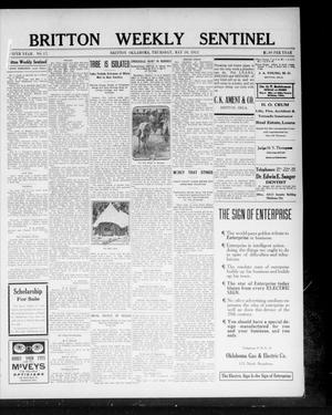 Primary view of object titled 'Britton Weekly Sentinel (Britton, Okla.), Vol. 5, No. 17, Ed. 1 Thursday, May 16, 1912'.